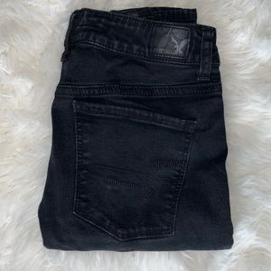 American Eagle Black Washed Out Jeans Size 4